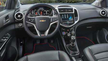 Chevrolet Sonic Hatchback 2017 dashboard