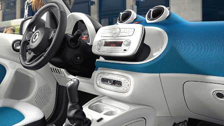 Smart fortwo 2016 dashboard